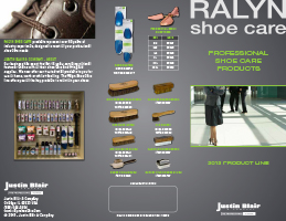 ralyn shoe care brochure justin blair company. Black Bedroom Furniture Sets. Home Design Ideas