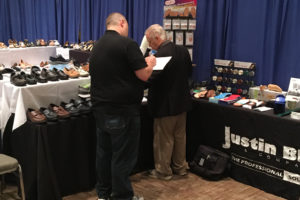 Justin Blair at Northwest Shoe Travelers 2017 Buying Market